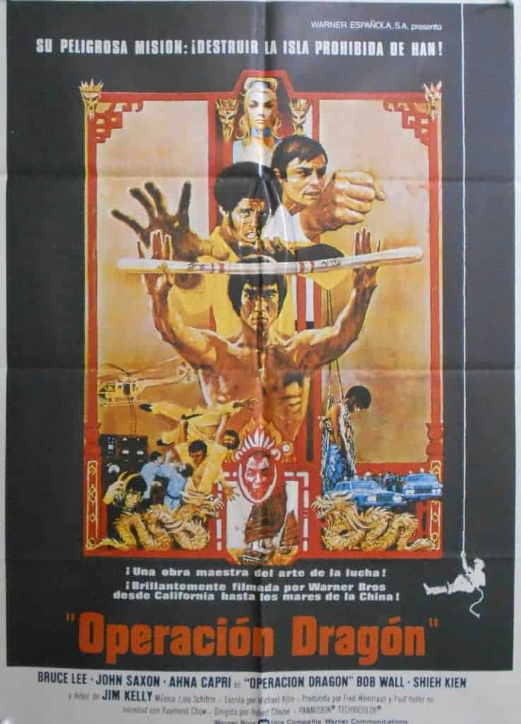 Enter The Dragon Bruce Lee Original Spanish One Sheet