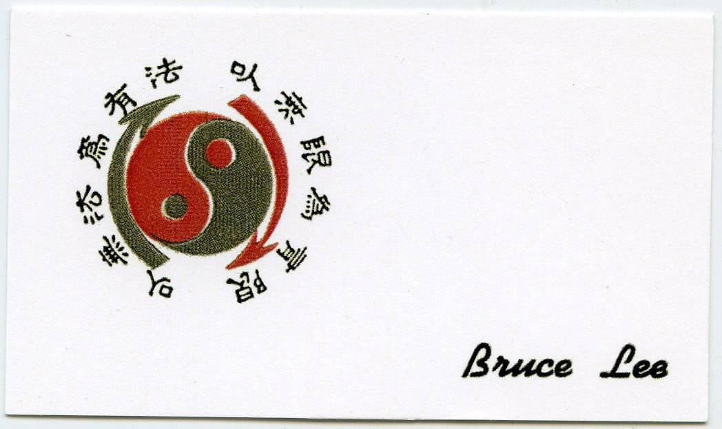 Bruce Lee Jeet Kune Do Business Cards Circa 1967 70 Lot 2 Eastern